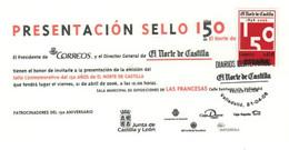 EL NORTE DE CASTILLA  - DIARIOS CENTENARIOS - TARJETA INVITACIÓN A La PRESENTACIÓN DE LA EMISIÓN (Valladolid 21-04-2008) - Abarten & Kuriositäten