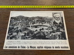 1910-30 PATI Convulsions De L Islam La Mecque Capitale Religieuse Du Monde Musulman El Haram - Verzamelingen