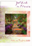 """"""" JARDINS DE FRANCE : GIVERNY """" Sur Document Philatélique Officiel 1°Jour De 4 Pages De 2010. N° YT F4479. DPO - Documents Of Postal Services"""