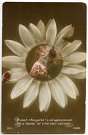 M'AIME-T-IL MARGUERITE? PHOTO MONTAGE - FLOWER / ADRESSE - MONTREAU MEREVILLE (SEINE ET OISE) (SUZANNE LEGENDRE) - Patriottiche
