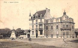 Huy - Statue Lebeau (Edit. Morren, Vins, Spiritueux Et Cigares Animée 1907 Pli Coin) - Huy