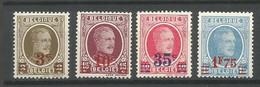 Timbre Belgique En Neuf ** N 245 / 248 - 1922-1927 Houyoux