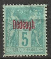 French Offices Dedeagh 1893 Sc 1a Yt 1a MNG Type II Carmine Overprint - Neufs