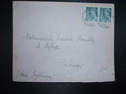 LETTRE TP MERCURE 50c Paire OBL.17-11 40 SAINT CAST COTES DU NORD (22) - 1938-42 Mercure