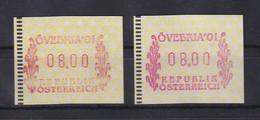 Österreich 2001 ATM ÖVEBRIA`01 Mi-Nr. 5 ** In 2 Farben Braunrot - Lilarot  8,00 - Andere