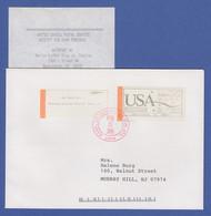 USA Autopost-ATM Washington 83 FIRST CLASS 0,25$ Mit AQ Auf Brief O 20.2.1990  - Zonder Classificatie