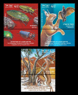 Israel 2020 Mih. 2747/49 Fauna. Steinhardt Museum Of Natural History MNH ** - Nuevos (con Tab)
