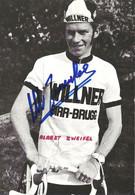 CARTE CYCLISME ALBERT ZWEIFFEL SIGNEE TEAM WILLNER 1974 - Radsport