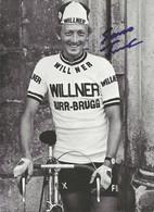 CARTE CYCLISME JOSEPH FUCHS SIGNEE TEAM WILLNER 1974 - Radsport