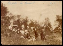 "Fotografia Antiga ""PIC-NIC No FUNCHAL"" (com Empregada Fardada) MADEIRA. Old Photo Sepia PORTUGAL - Antiche (ante 1900)"