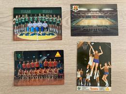 Spain Basketball Postcard With Autographs 1977 - Baloncesto