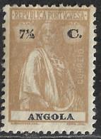Angola – 1914 Ceres Type 7 1/2 Centavos - Angola