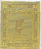 SCOTLAND - HEBRIDES SPECIAL POST, ERISKAY - Map - Imperf Single Stamp - Mint Never Hinged No Gum - Local Cinderella - Cinderelas
