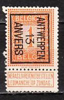PRE36B  Lion Debout - Antwerpen 13 Anvers - Bonne Valeur - MNG - LOOK!!!! - Typos 1912-14 (Lion)