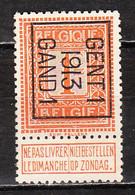 PRE38B  Lion Debout - Gent I 13 Gand I - Bonne Valeur - MNG - LOOK!!!! - Typos 1912-14 (Lion)