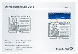 01624) BRD - ⨀-Karte Mi 2732 - SoST Vom 18.02.2014 In 91710 Gunzenhausen, Simon Marius, Astronom - Machine Stamps (ATM)