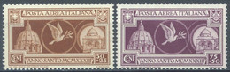ITALIA - 1933 - MNH/**  - ANNO SANTO  - Yv PA51A-51B Mi 457-458 Sa S. 1510 A54-A55 - Lot 23145 - Airmail
