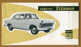"""Livret Publicitaire : """" SIMCA VEDETTE """" TRIANON """" 1956 - Pubblicitari"""