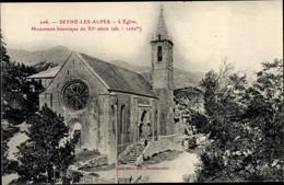 CPA Seyne Les Alpes Alpes De Haute Provence, L'Eglise, Monument Historique - Otros Municipios