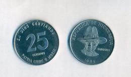 Nicaragua - 25 Centavos 1985. UNC. RARE. - Nicaragua
