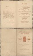 "Belgique - Menu D'inauguration ""Hotel De Bruxelles & New Claridge"" (Ostende, 13 Juin 1925) - Menus"