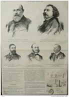M. Busson-Billault - M. Charles Vincent - M. Mollard - M. Bergaigne - Page Original - 1888 - Historical Documents