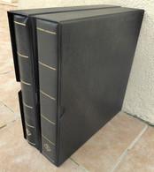Lot De 2 Classeurs 26 X 31 Cm + 2 étuis + 50 Feuilles Fond Noir (100 Pages) - Bon état. - Large Format, Black Pages