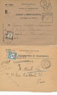 DX-248: FRANCE: Lot Avec 2 Enveloppes Avec Taxes N°62 Puis 64 - 1859-1955 Cartas