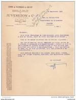 26 ROMANS Sur ISERE COURRIER 1950 CENTRE De TALONNAGE Du SUD EST JUVENETON & Cie   / R21 Drome - 1950 - ...