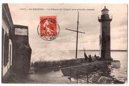 Saint-Brieuc - Le Phare Du Légué Par Grande Marée - édit. E. Hamonic 1807 + Verso - Saint-Brieuc
