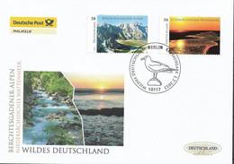 2013 Deutschland Germany. Mi.3017-8 FDC  Wildes Deutschland - FDC: Enveloppes
