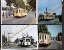 4 PHOTOS TRAM 1 MONS CUESMES FRAMERIES PATURAGES BORINAGE REPRO - Strassenbahnen