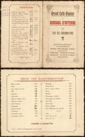 Belgique - Grand Café-glacier Du Kursaal D'Ostende : Tarif Des Consommations (Champagnes, Alcool, Bière, Cigares) - Menus