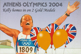 Great Britain Postcard 2004 Athens Olympic Games Kelly Holmes Win Two Gold Medals - Mint (G122-17) - Estate 2004: Atene