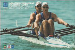 Card 2004 Athens Olympic Games With Sebastian Vieilledent And Adrien Hardy, France Rowing, Olympic Gold Medal (G122-60) - Estate 2004: Atene