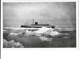 Spitsbergen - Kings Bay - La Banquise Et Le Paquebot Lafayette - édit. Trenchard  + Verso - Norwegen