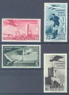 ITALY  - MNH/** - 1934 - CALCIO - Yv PA64-PA67 - Mi 484-487 Sa S. 1513 A69-A72 - Lot 23149 - Airmail