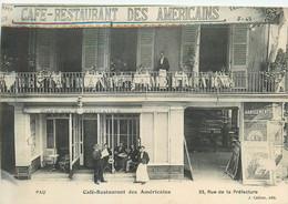 64 PAU  Café Restaurant Des Américains    2 Scans - Pau