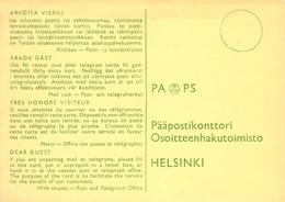 Finland Lot Of Three Postal Forms Unused Pääpostikonttori Saanti- Maksutodistus Osoitekortti Fine Condition (338) - Entiers Postaux