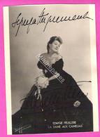 Dédicace Autographe Manuscrit Edwige FEUILLERE Actrice Sur Une Photo Harcourt No Copy No Print - Handtekening