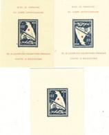 FRANCE L.V..F . 3 Blocs Feuillets OURS - Franchise Stamps