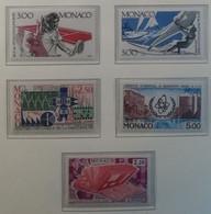 Monaco 1987 / Yvert N°1577 + 1579 + 1580 + 1601-1602 / ** - Ongebruikt