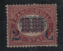 1878 Servizio Di Stato 2 C. Su 10,00 Nuovo MNH/MLH - Neufs