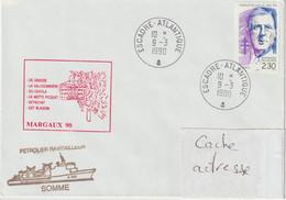 13696 SOMME - Pétrolier - Mission MARGAUX 90 - ESCADRE ATLANTIQUE - 1990 - Posta Marittima