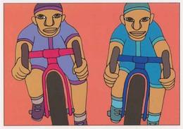 Cpm 1741/658 ERGON - Hommes à Bicyclette - Vélo - Cyclisme - Bicycle - Illustrateur - Peintre - Ergon