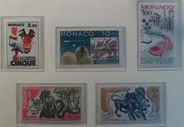 Monaco 1986 / Yvert N°1536 + 1545-1546 + 1550 + 1553 / ** - Ongebruikt