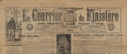 ° LE COURRIER DU FINISTERE ° SAMEDI 30 JANVIER 1926 ° JOURNAL FRANCAIS - BRETON ° - Historische Dokumente
