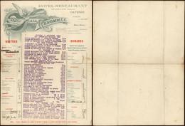 Belgique - Grande Facture Illustrée (Ostende 1924) : Hotel-restaurant A La Renomée - 1900 – 1949
