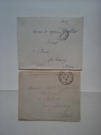 2 LETTRES 1916 À DESTINATION DE BRÈVES PAR DORNECY NIEVRE (58) AVEC CORRESPONDANCE - Lettres & Documents