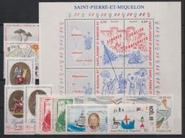 SPM - Année Complète 1989 - N°Yv. 497 à 512 - 16 Valeurs - Neuf Luxe ** / MNH / Postfrisch - Komplette Jahrgänge